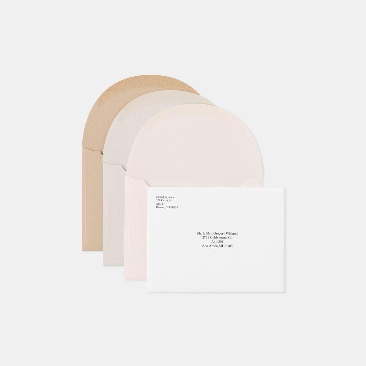 Letterpress Geometric RSVP Card